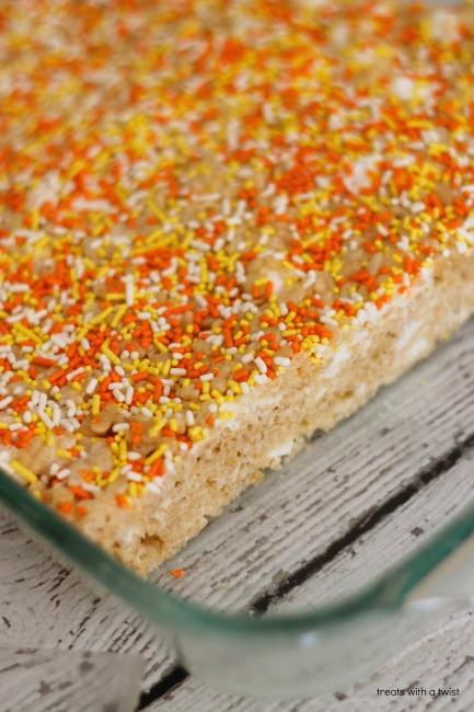 Double Marshmallow Krispie Treats (treatswithatwist.com)