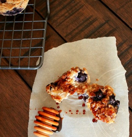 Blueberry Bran Muffins // treatswithatwist.com