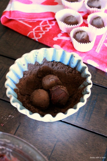 Dark Chocolate Red Wine Truffles