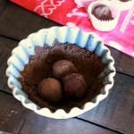Dark Chocolate Red Wine Truffles // treatswithatwist.com