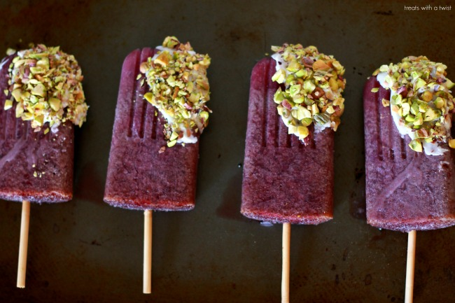 Cherry White Chocolate Popsicles 1