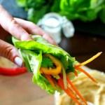 Hummus and Veggie Lettuce Wraps // treatswithatwist.com