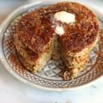 Zucchini Bread Pancakes // gluten free // treatswithatwist.com