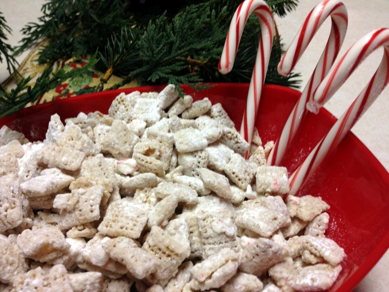 peppermint chex mix