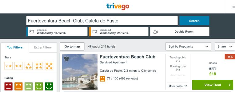 Fuerteventura cheap resorts