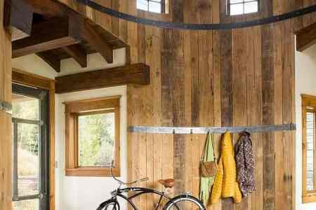 contemporary rustic residence industrial moments features turret 1 foyer