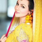 bride dress for mehndi 6