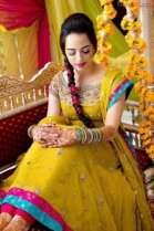 latest pakistani beautiful bridal mehndi dresses 14