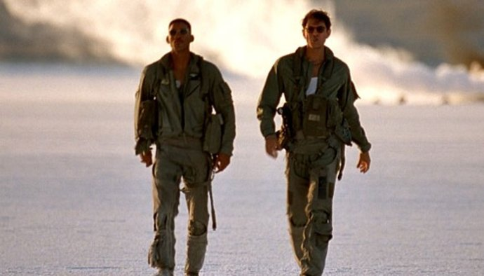 Will Smith and Jeff Goldblum in Independence Day (1996)