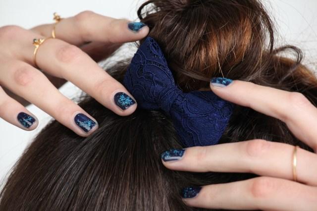 Blue Velvet nail art