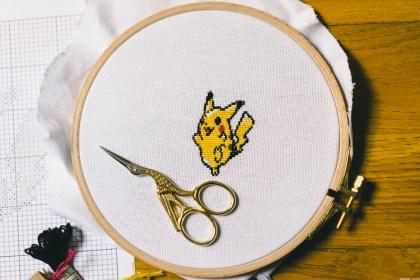 Pikachu - broderie point de croix