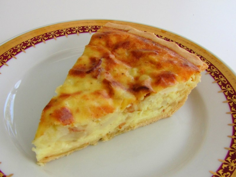 Potato and Bacon Quiche