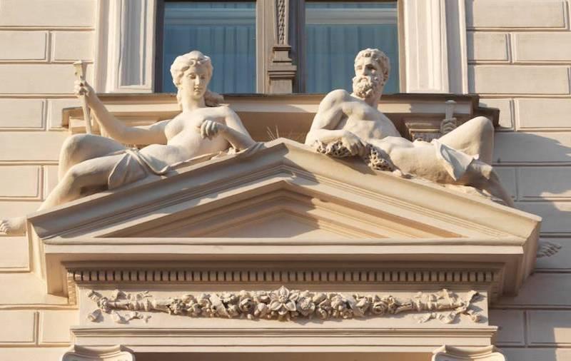 Four Seasons beautiful sculptures.