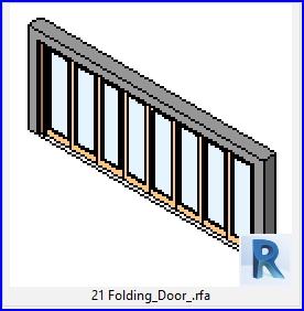 Familias para Revit | 46 puertas varios | 21 Puerta plegable .rfa