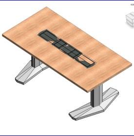 0160 E Coalesse mesa rectangular de base de aluminio (ii)  .rfa