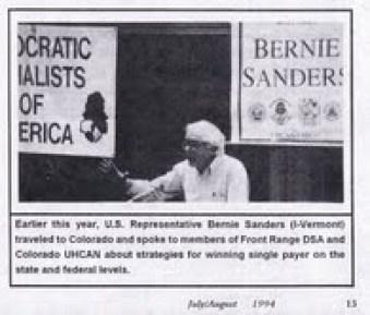 Sanders, DSA conference Colorado, 1994