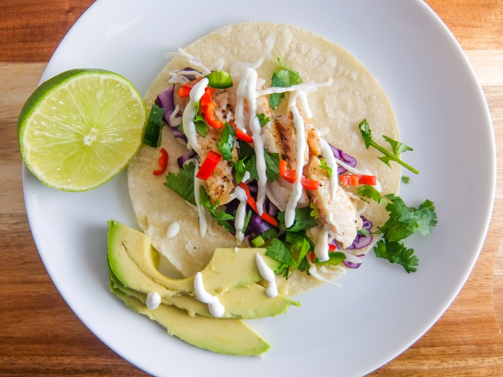 fish tacos with creamy lime sauce trial error bklyn