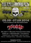 Flyer des Metallergrillen 2014