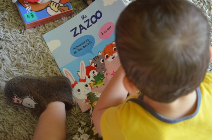 the Zazoo! French English bilingual story books for children | Trilingual Mama