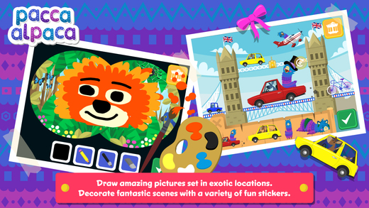 Pacca Alpaca Travel Playtime | app review on Trilingual Mama