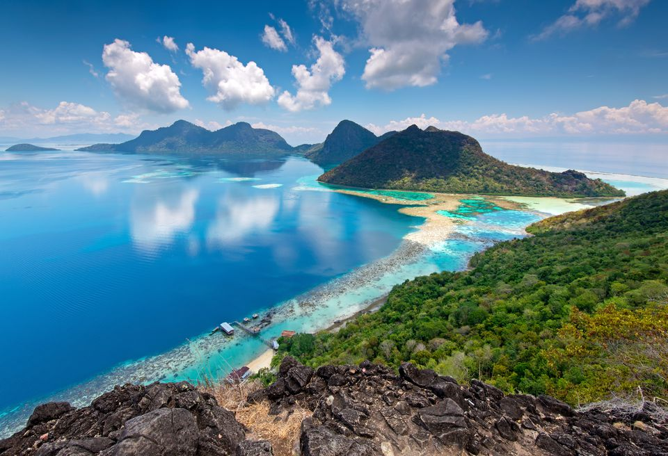 Top 8 Places to Scuba Dive in Sabah  Borneo A beautiful view from the top of Bohey Dulang Island