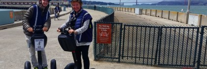 Riding a Segway in San Francisco with the Electric Tour Company
