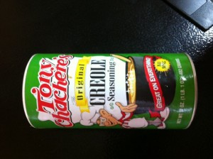 Tony Chachere's Creole Seasoning is my favorite go-to seasoning.