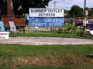summer outlet a great thrift store