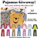 Disney Microfleece PJs #Giveaway Event Ends Nov. 18 ENDED