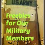 Freebies for  Veterans and Active Military Members