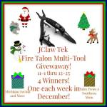 JClaw Tek Fire Talon Multi-Tool #Giveaway Ends Dec. 25 ENDED