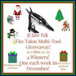 JClaw Tek Fire Talon Multi-Tool #Giveaway Ends Dec. 25