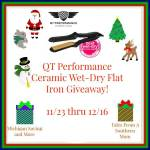 Flat Iron Experts QT Wet-Dry Tourmaline Ceramic Flat Iron #Giveaway #GTG2015  Ends Dec. 16 ENDED