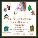 PumPedi Rechargeable Callus Remover #Giveaway Ends Dec. 25