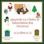 Quarterly Box #Giveaway #GTG2015 Ends Dec. 15