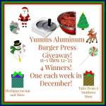 Yumms! Aluminum Burger Press #Giveaway Ends Dec. 25 ENDED
