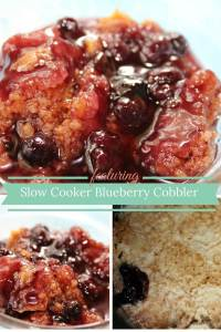 Slow Cooker Blueberry Cobbler