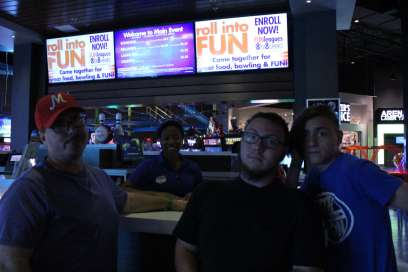 The main counter at Main Event Entertainment