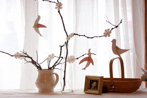 pink bird and branches inspired baby shower decorations (640x427)