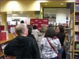 In line for book signing