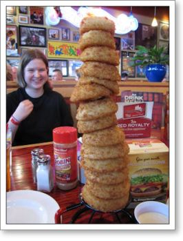 A Tower of Onion Rings