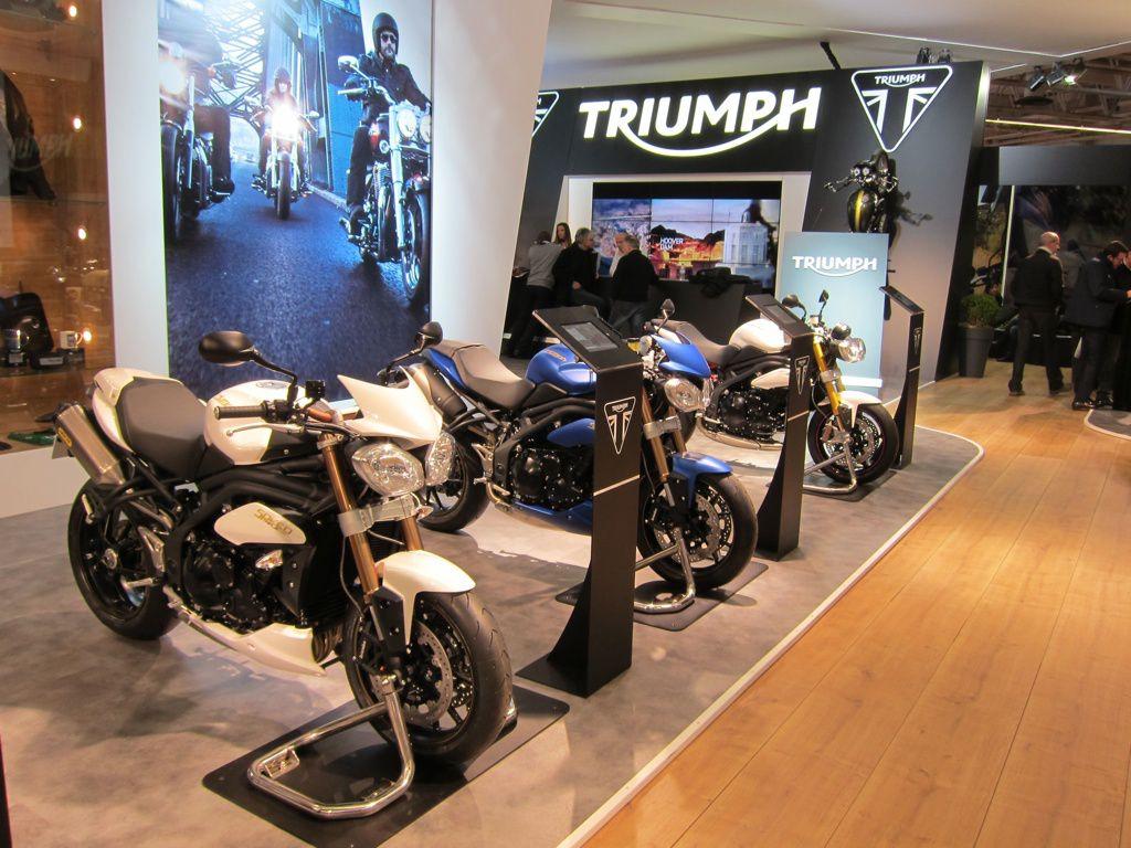 Salon de la moto 2013 le stand triumph en images - Salon de la moto tours ...