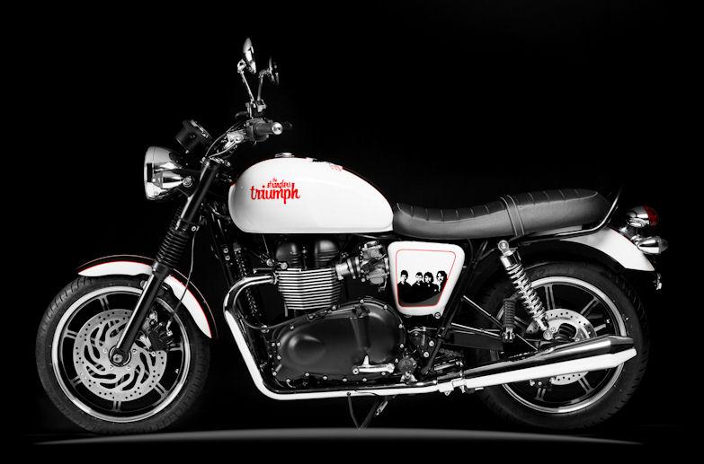 Triumph Bonneveille - The Stranglers 40th Anniversary