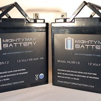 12V 55Ah Power Boat Pontoon Electric Trolling Motor Deep Cycle Battery - 2 Pack - Mighty Max Battery brand product