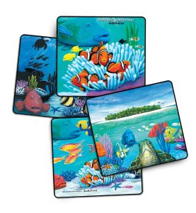 Reef Fish 4 pack drink coasters