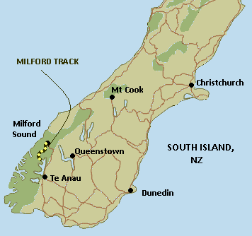 Map of Milford Track