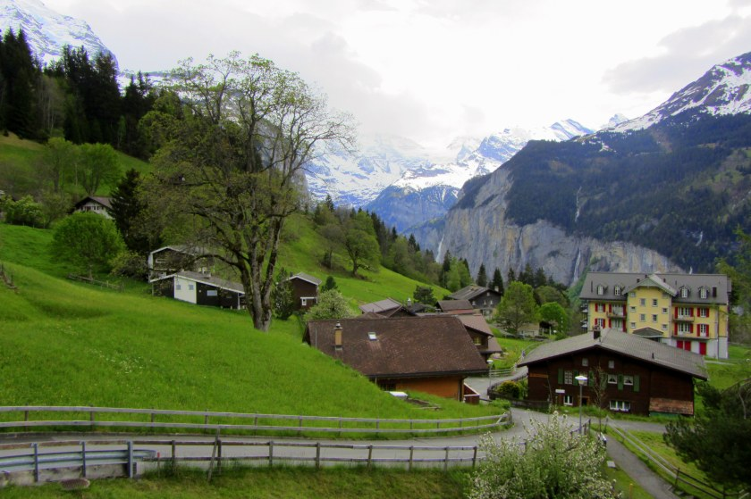 Town of Wengen above Lauterbrunnen