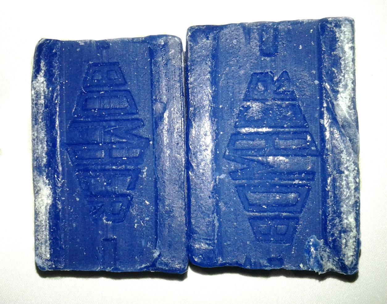 Blue Bomber Cake Soap