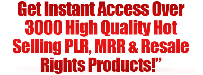 over 3000 plr products