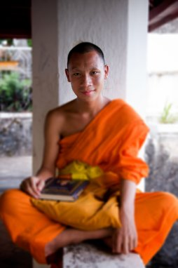 "A young monk I met in Luangpraband, Laos, whose first question to me was, ""Have they finished the new World Trade Center yet?"" Not a question I usually get from non-Americans."